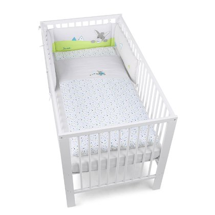 Sterntaler Bedding Set including Cot Bumper -  * The bedding set by Sterntaler will make your baby feel completely comfortable and safe. The colourful set adds more comfort to your child's nursery and provides everything your little one needs for a good night's sleep.