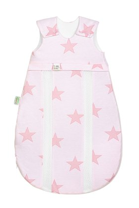"Odenwälder baby nest Jersey sleeping bag ""soft ice cream"" rose - large image"