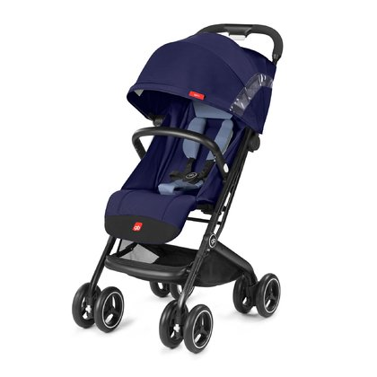 gb by Cybex Buggy Qbit+ -  * The gb by Cybex buggy Qbit+ is small and handy, but big in its functions. It can be declined to a total lying position. The adjustment of the back rest is very useful and can be done with one hand.