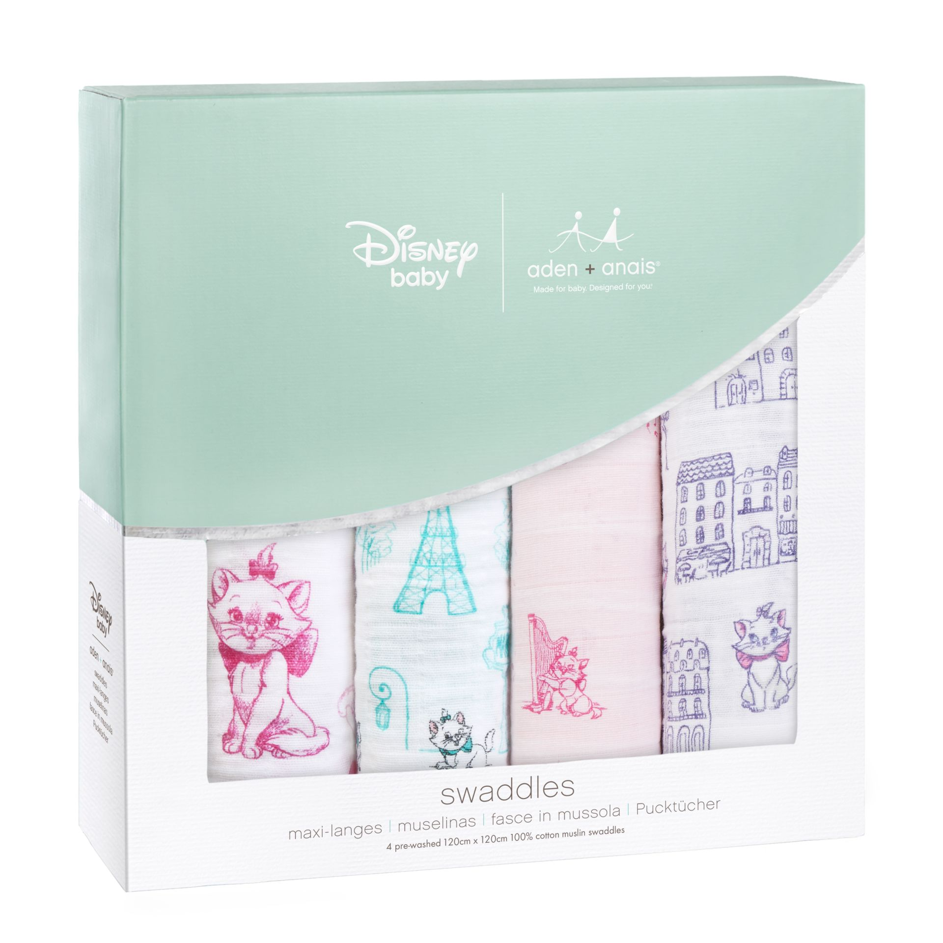 Aden Anais Disney Swaddles Pack Of 4 2018 Aristocats