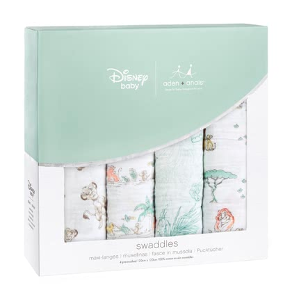 aden+anais Disney Swaddles, Pack of 4 The Lion King - large image
