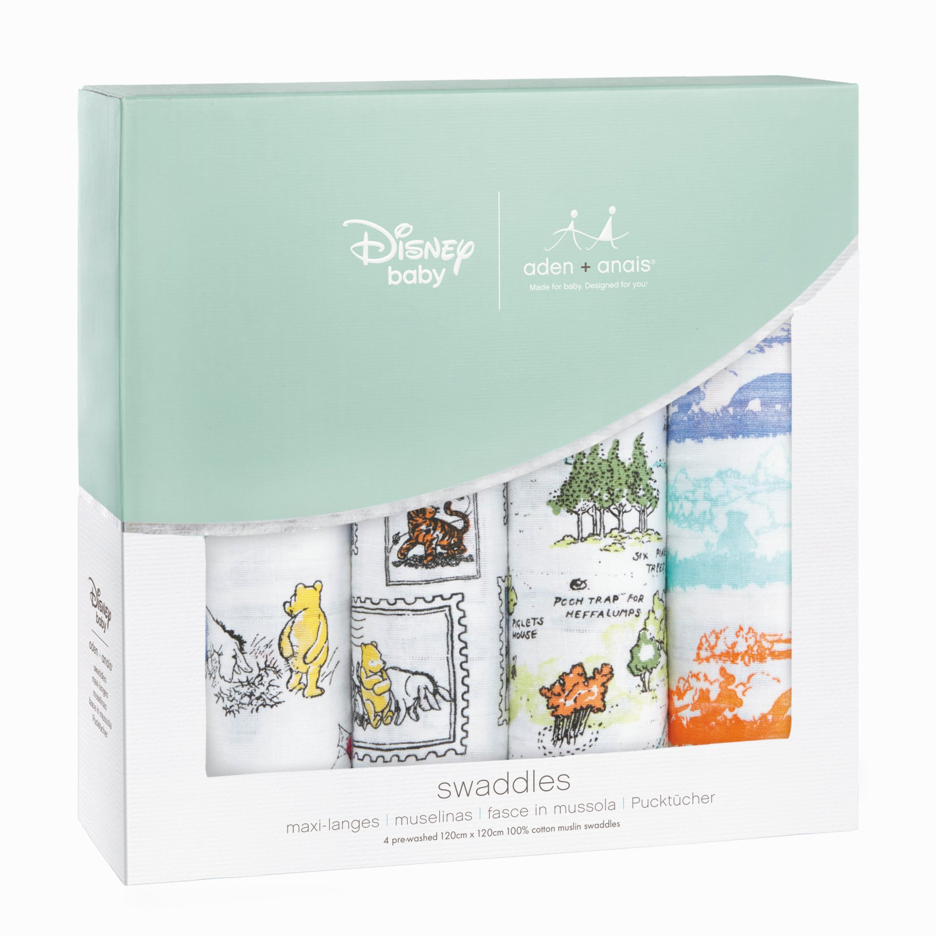 Aden and Anais Disney Swaddle 4 Pack Winnie the Pooh