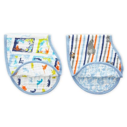 "Aden+anais Disney Burp Cloth/ Bib ""Burpy Bib"" -  * Keep you and your little one's clothes clean with aden+anais' Disney burpy bibs that come in a convenient set of 2."