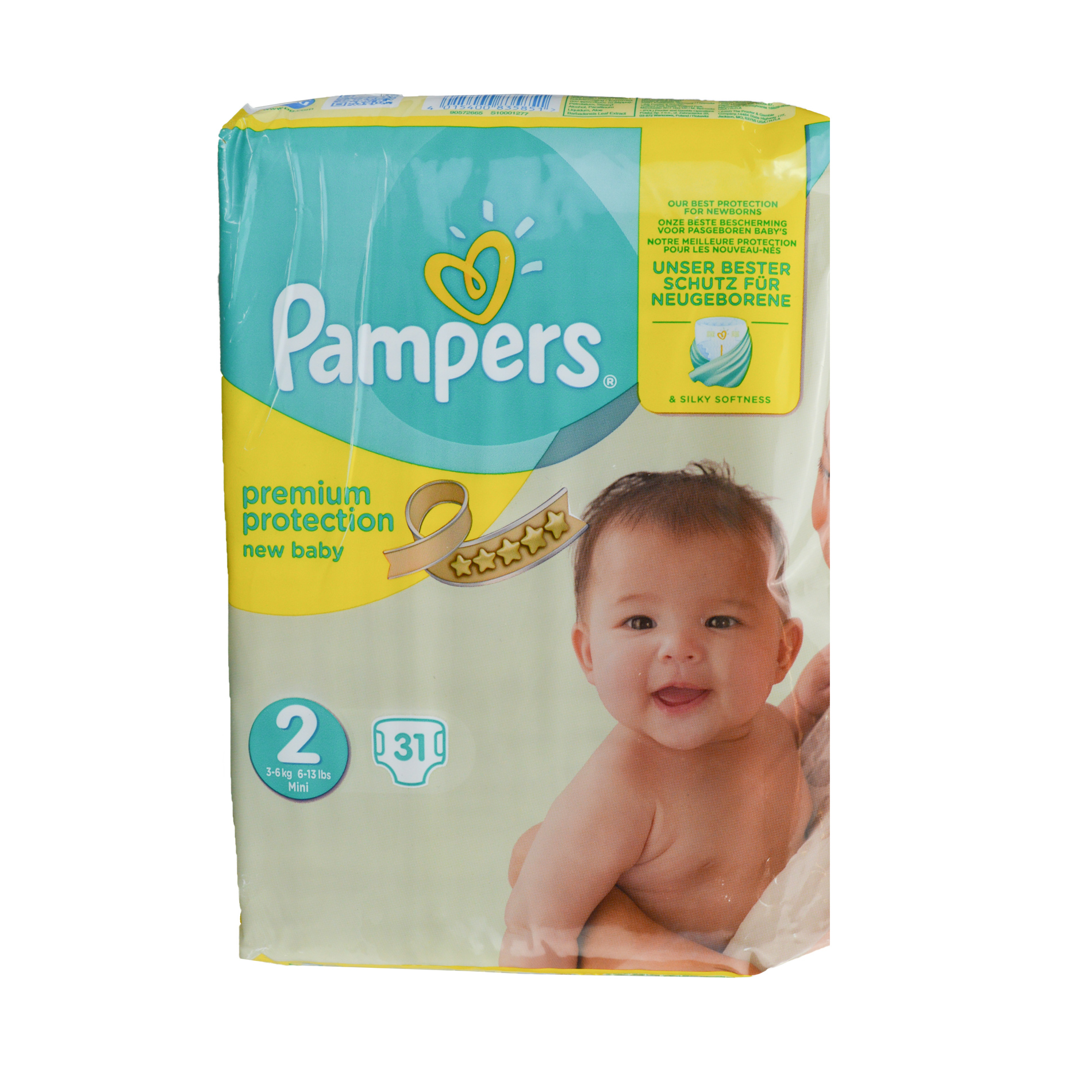 Baby Pampers Premium Protection Baby Nappy 2-5kg Newborn Size 1 Baby Changing & Nappies pack Of 2