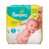 Pampers Premium Protection Nappies New Baby – Size 1 - * Pampers premium protection diaper size 1 – new baby – will offer your newborn the best comfort weighing 2 kg.