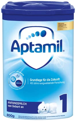 Aptamil 1 First Milk with Pronutra™ - * Aptamil 1 starting milk supports an age-based development and can be fed from birth on.