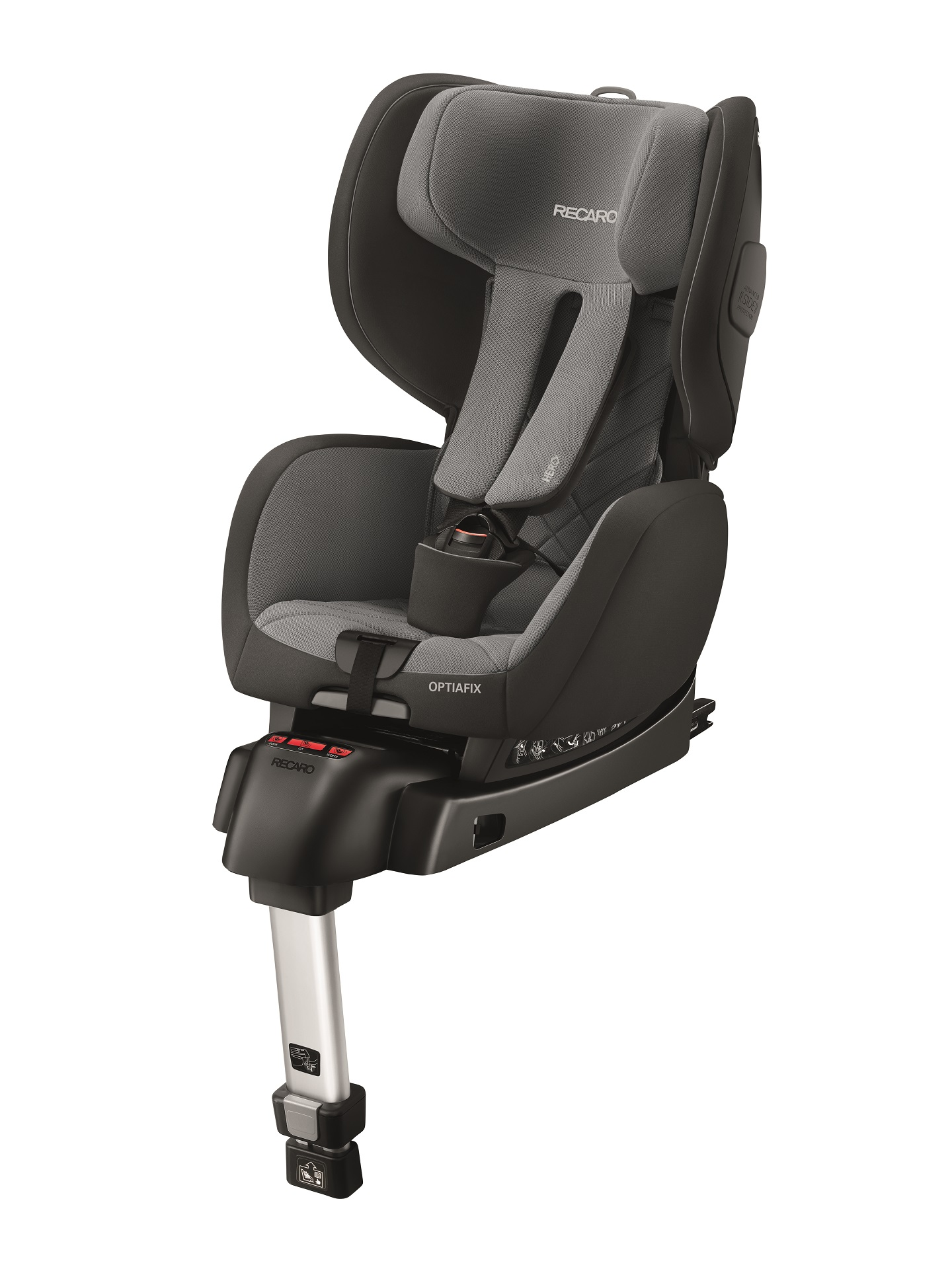 recaro child car seat optiafix 2018 carbon black buy at kidsroom car seats. Black Bedroom Furniture Sets. Home Design Ideas