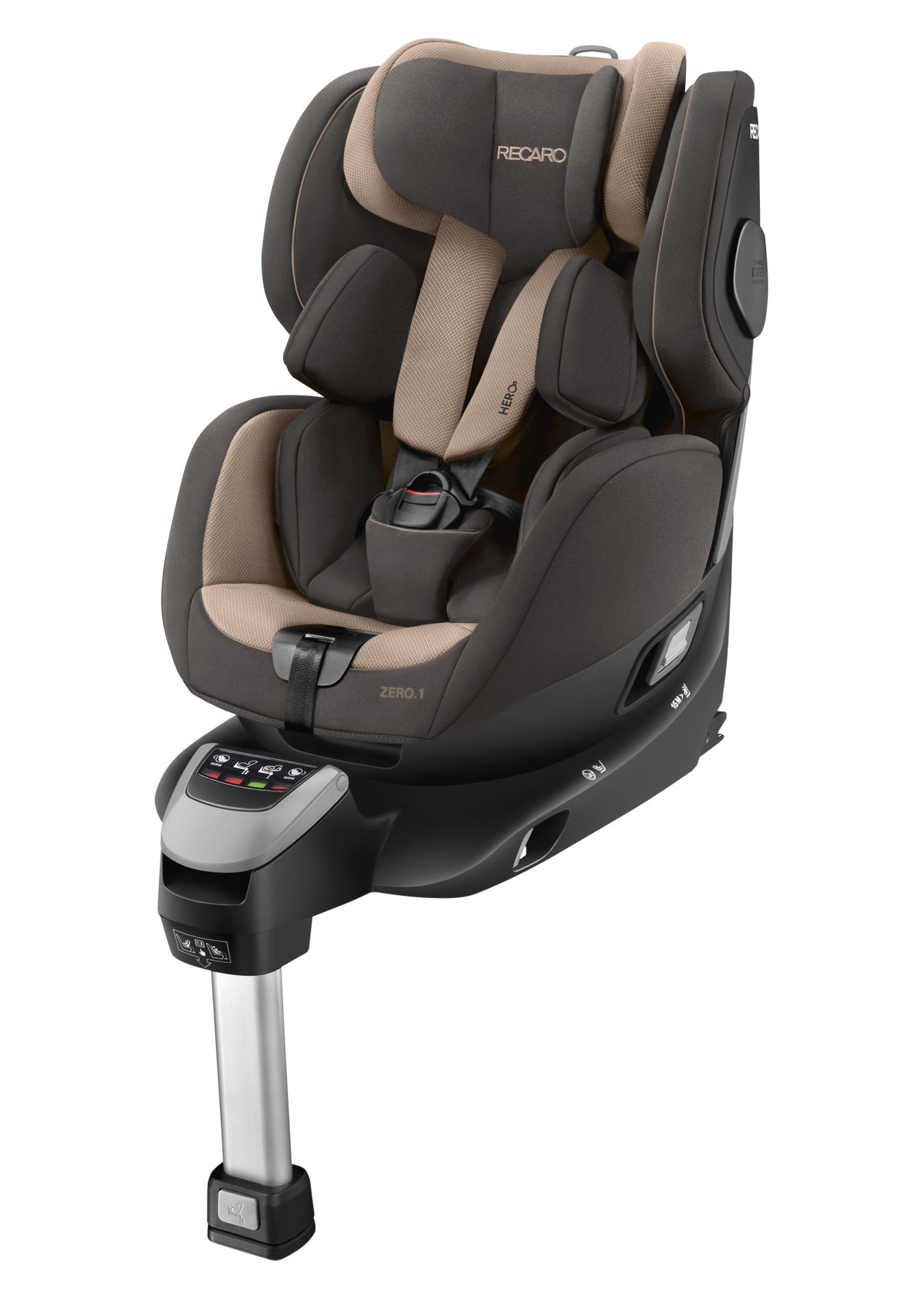 recaro reboarder zero 1 i size incl isofix base 2018 dakar sand buy at kidsroom car seats. Black Bedroom Furniture Sets. Home Design Ideas