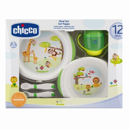 "Chicco Gift Set ""Meal"" 12m+ - * Chicco gift set meal 12m+ - The gift set contains everything your child needs to eat on his/her own."