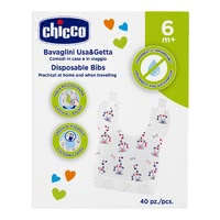 "Chicco Disposable Bibs - * Chicco disposable bib – Ideal for being on the go – the disposable bib ""Easy Meal"" by Chicco."