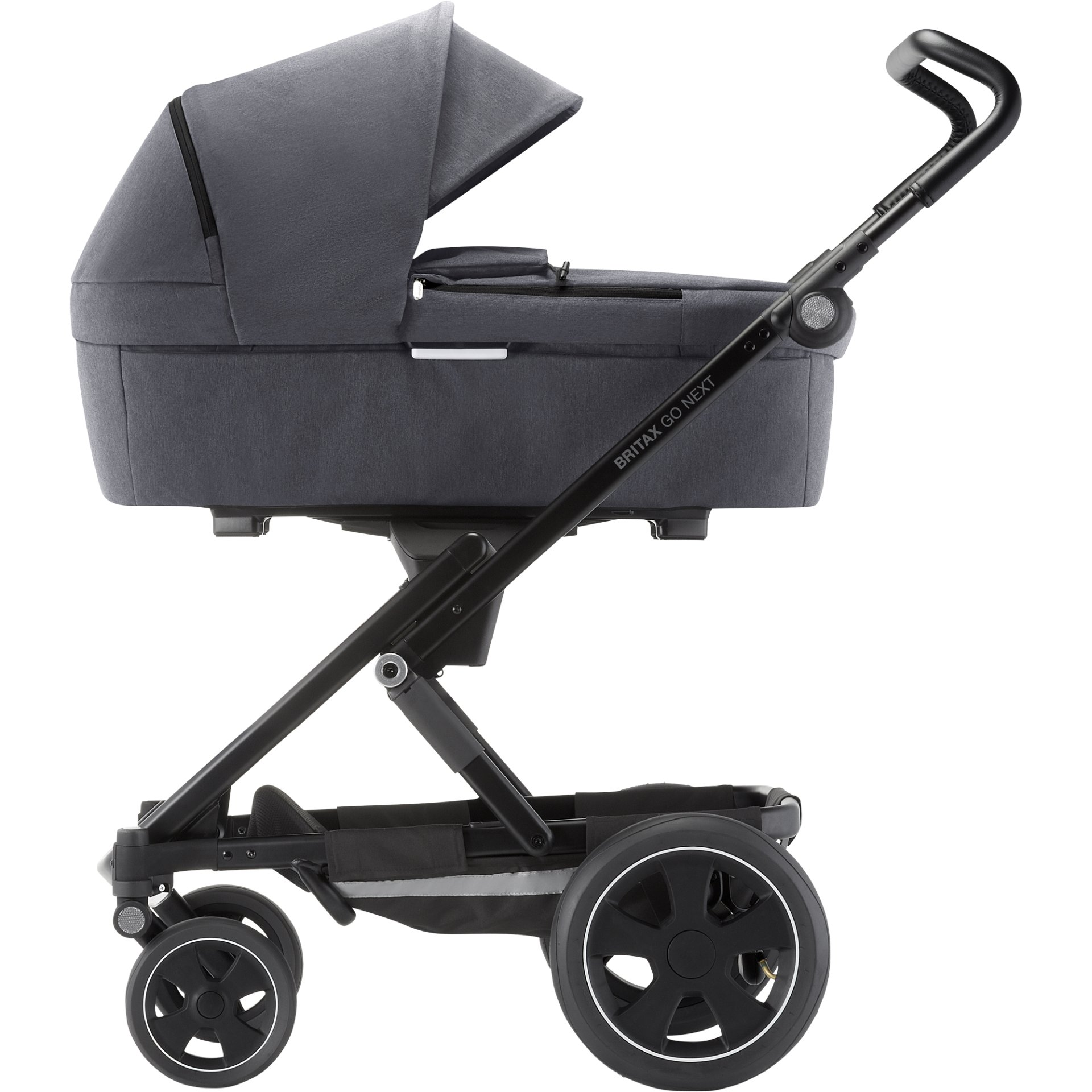 britax r mer stroller go next 2 2019 graphite melange buy at kidsroom strollers. Black Bedroom Furniture Sets. Home Design Ideas