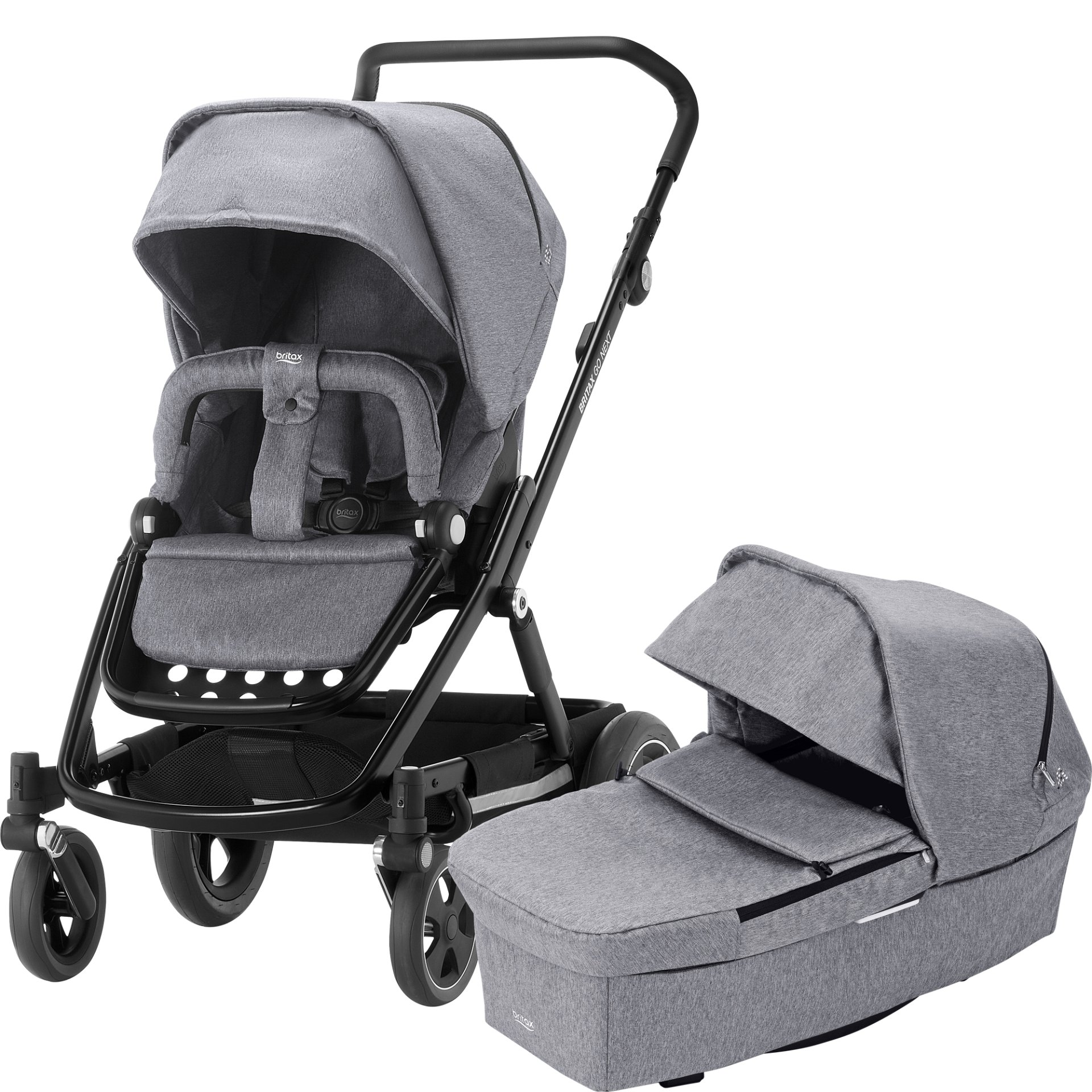 britax r mer stroller go next 2018 grey melange buy at kidsroom strollers. Black Bedroom Furniture Sets. Home Design Ideas