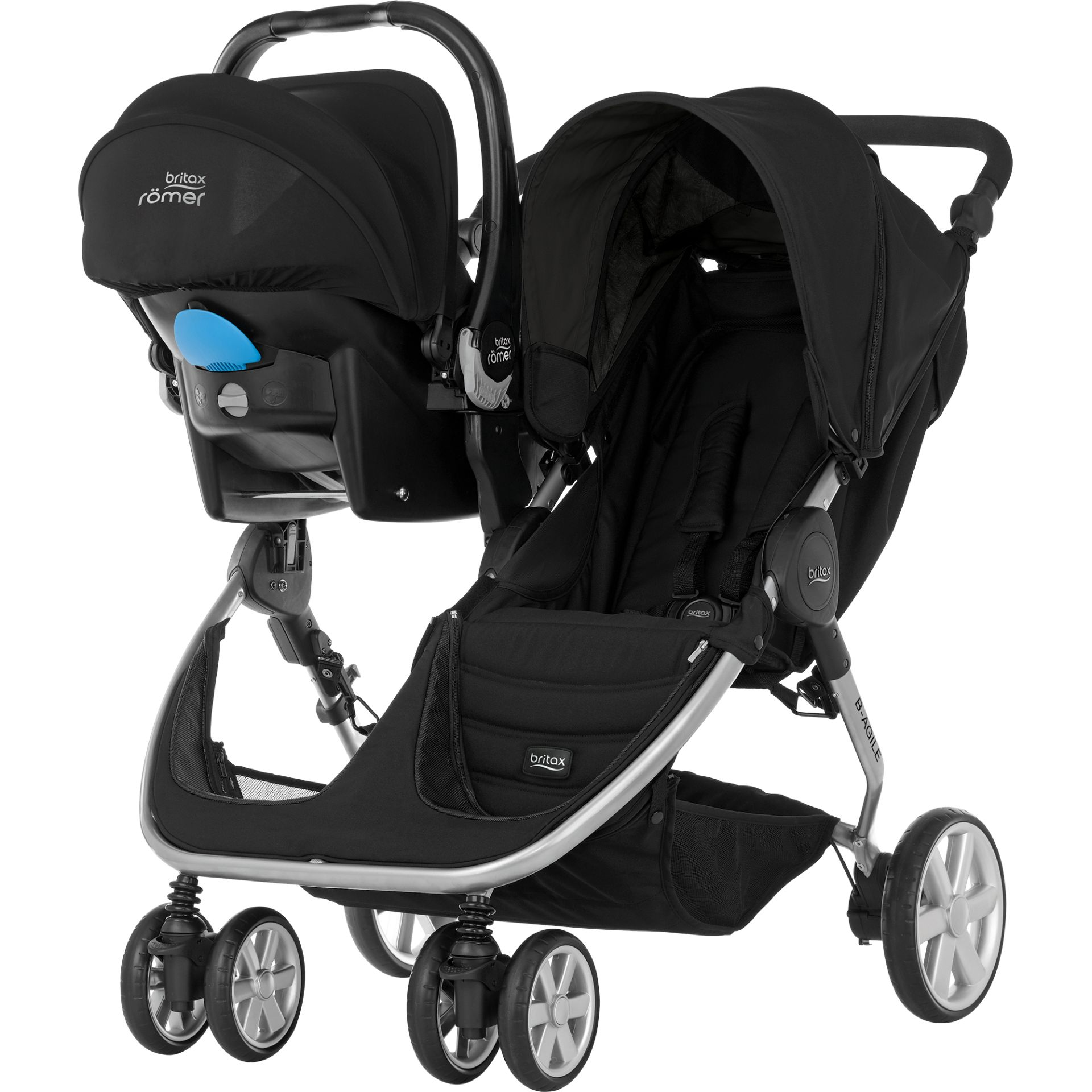 Britax Römer B AGILE DOUBLE & Go adapter 2016 large image 3