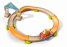 "Haba Kullerbü Racetrack ""Roundabout"" - * Haba's Kullerbü play track is an amazing first play track set for your little one. This set is beautifully colored and great for building imagination."