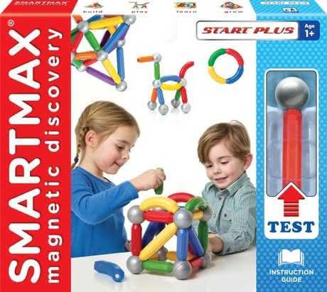 SMARTMAX Start Plus Set - * SMARTMAX Start Plus - Magnetic construction fun for little builders aged 1 year.