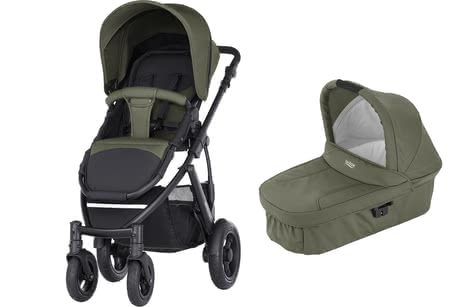 Britax Römer SMILE 2 incl. Hard Carrycot Olive Green 2017 - large image