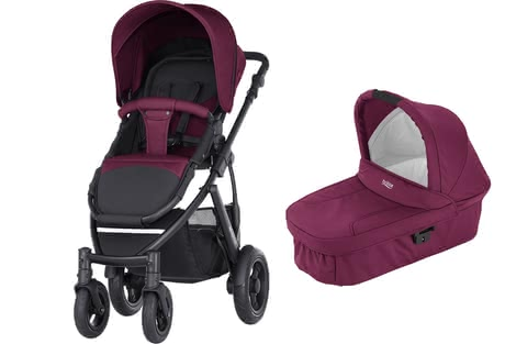 Britax Römer SMILE 2 incl. Hard Carrycot Wine Red 2018 - large image