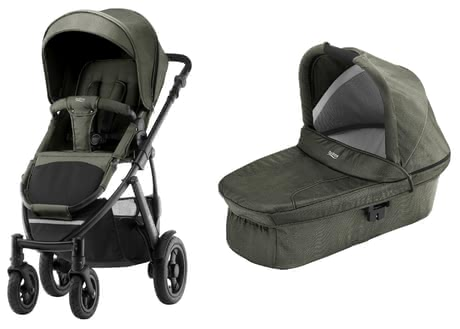 Britax Römer SMILE 2 incl. Hard Carrycot Olive Denim 2019 - large image