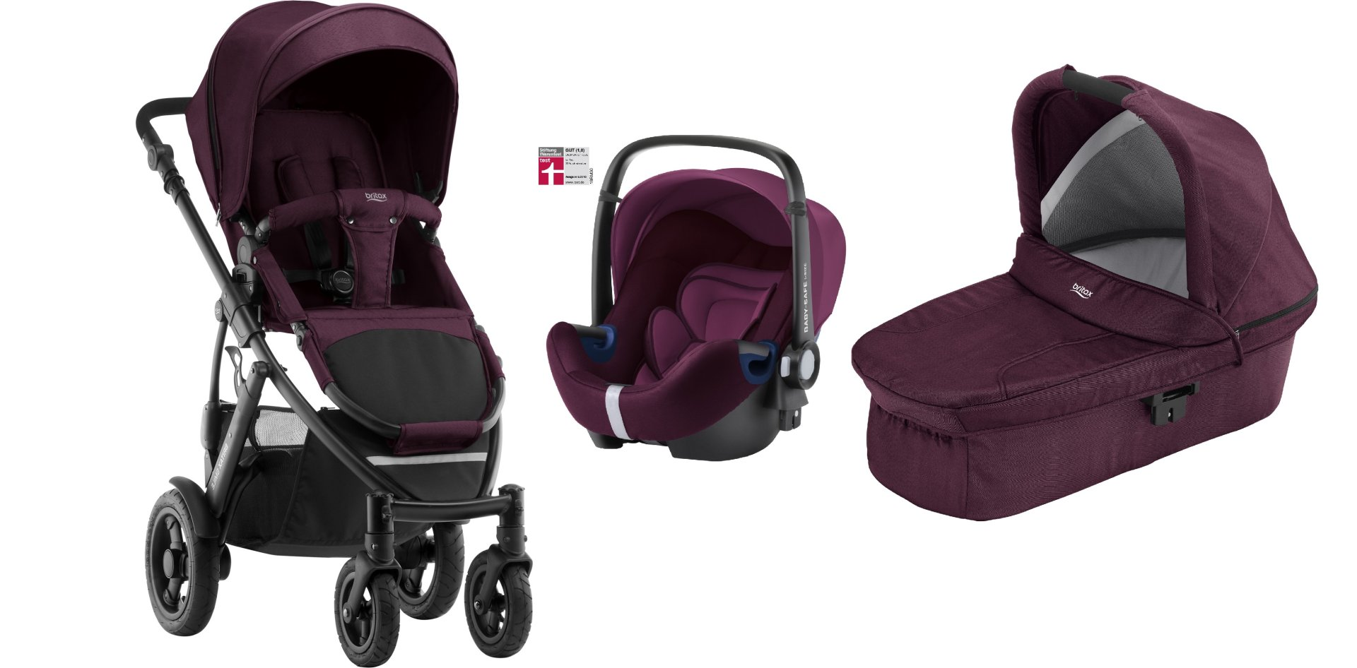 Britax R 246 Mer Smile 2 Incl Hard Carrycot Infant Car Seat