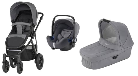 Britax Römer SMILE 2 incl. Hard Carrycot + Infant Car Seat Baby Safe 2 i-Size - * The set consisting of Britax Römer SMILE 2 incl. Hard Carrycot + Infant Car Seat Baby Safe 2 i-Size provides comfort as a stroller as well as safety when travelling by car.