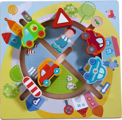 "Haba Sensory Board ""The World of Vehicles"" - * Haba motor skills board ""vehicle world"" – Hum, hum, hum – a lot of pleasure will be provided with this toy."