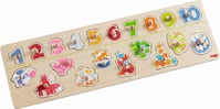 "Haba Clutching Puzzle ""Animals & Numbers"" - * Haba grasping puzzle ""number fun"" – Discover a world of animals and learn the numbers from one to ten."