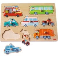 "Haba Clutching Puzzle ""The World of Vehicles"" - * Haba grasping puzzle ""vehicle world"" – Learning how to puzzle and discovering vehicles in doing so – with the Haba grasping puzzle."