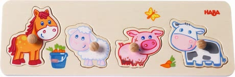 "Haba Clutching Puzzle ""Animal Babies on the Farm"" - * Haba grasping puzzle ""farmer's animal children"" – This article is the perfect introduction into the world of puzzling."