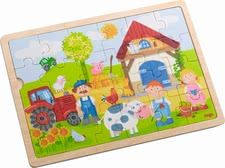 "Haba Wooden Puzzle ""Anton's Farm"" - * Haba wooden puzzle – Anton's farm"" – Put all 24 pieces of this puzzle together and a farm will arise."