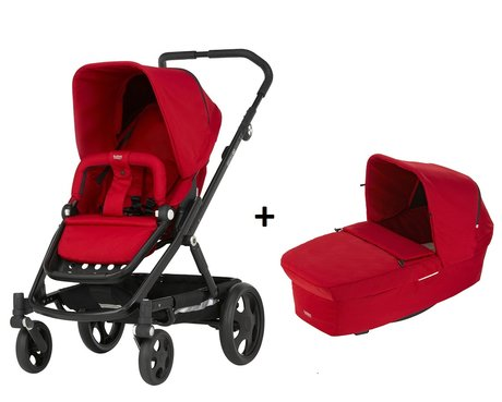 Britax Römer GO incl. GO Carrycot Prambody Flame Red 2016 - large image