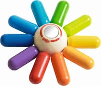"Haba Clutching Toy ""Colourful Sun"" - * Haba grasping toy ""Colourful sun"" – This toy makes your child radiate almost like the sun."