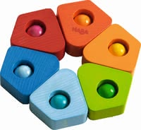 "Haba Clutching Toy ""Blur of Colour"" - * Haba grasping toy ""blur of colour"" – This toy will put a smile on your child's face."