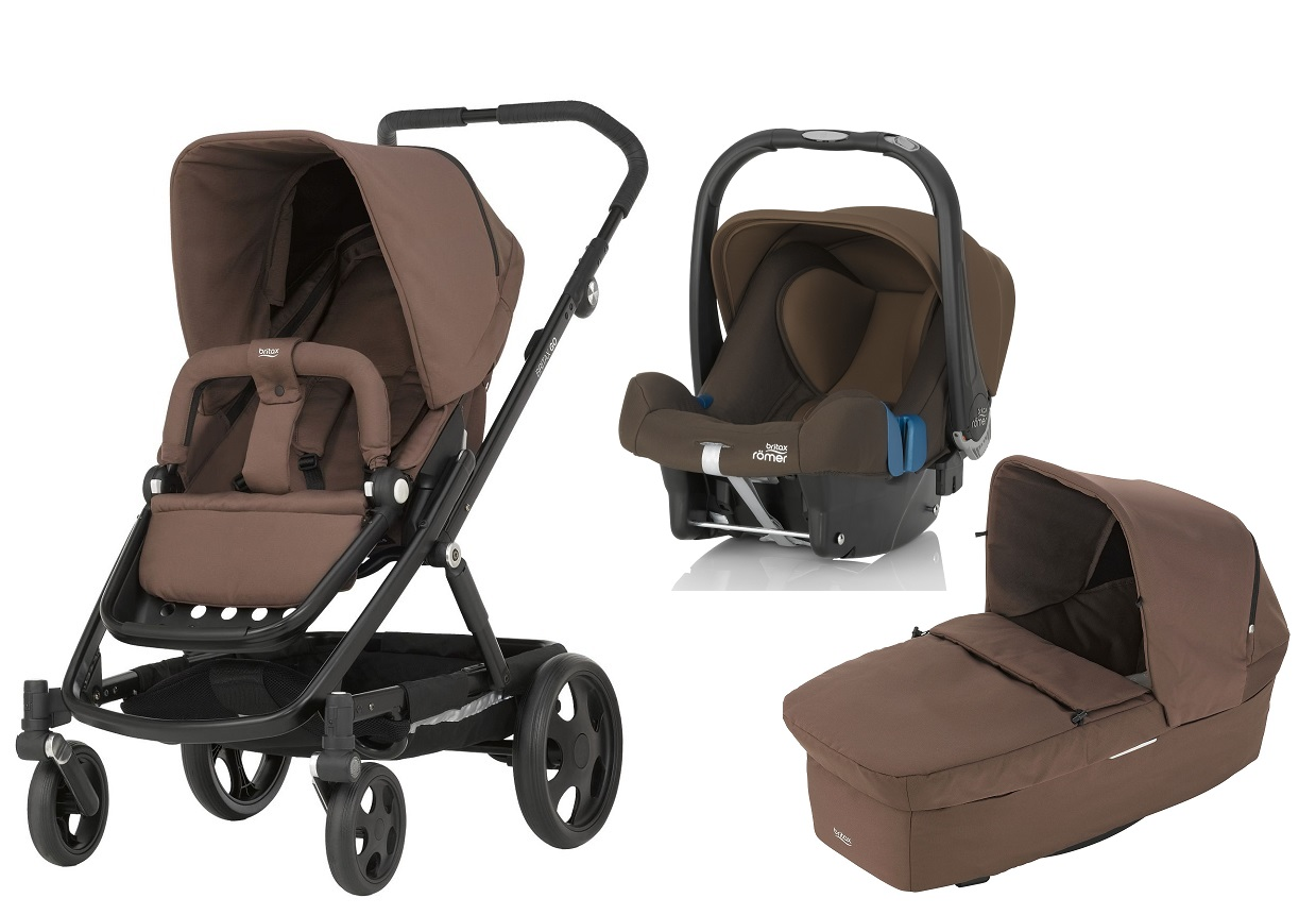 Britax Rmer GO Including Carrycot And Infant Car Seat Safe Plus SHR II Wood Brown