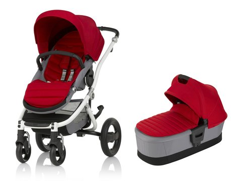 Britax Römer AFFINITY 2 including Colour Pack + Carrycot Flame Red 2018 - large image