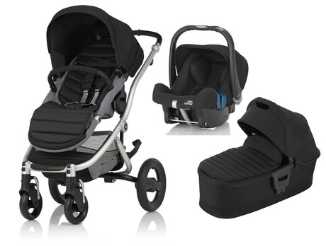 Britax Römer AFFINITY 2 incl. Colour Pack + Hard Carrycot + Infant carrier Baby Safe Plus SHR II Cosmos Black 2017 - large image