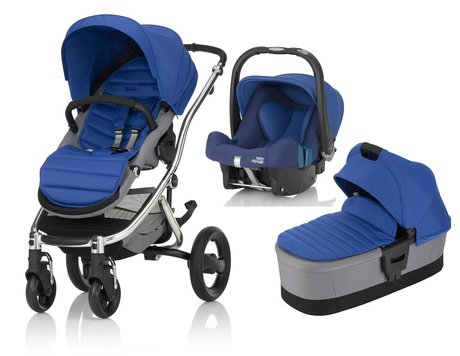 Britax Römer AFFINITY 2 incl. Colour Pack + Hard Carrycot + Infant carrier Baby Safe Plus SHR II Ocean Blue 2017 - large image