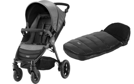 Britax B-Motion 4 incl. foot muff Shiny Cosytoes Black Denim 2018 - large image