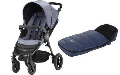 Britax B-Motion 4 incl. foot muff Shiny Cosytoes Blue Denim 2018 - large image