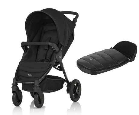 Britax B-Motion 4 incl. foot muff Shiny Cosytoes Cosmos Black 2018 - large image