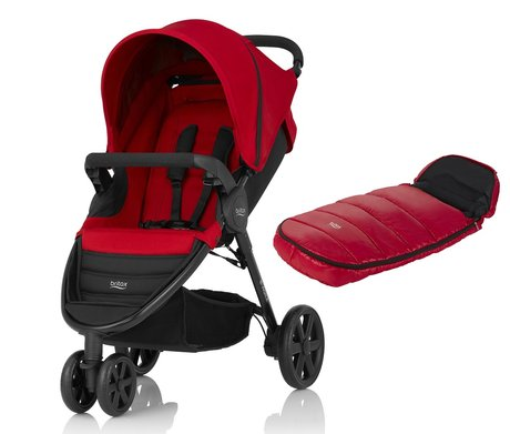 Britax B-Agile 3 incl. Footmuff Shiny Cosytoes Flame Red 2017 - large image