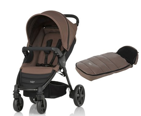 Britax B-Agile 4 incl. footmuff Shiny Cosytoes Wood Brown 2017 - large image