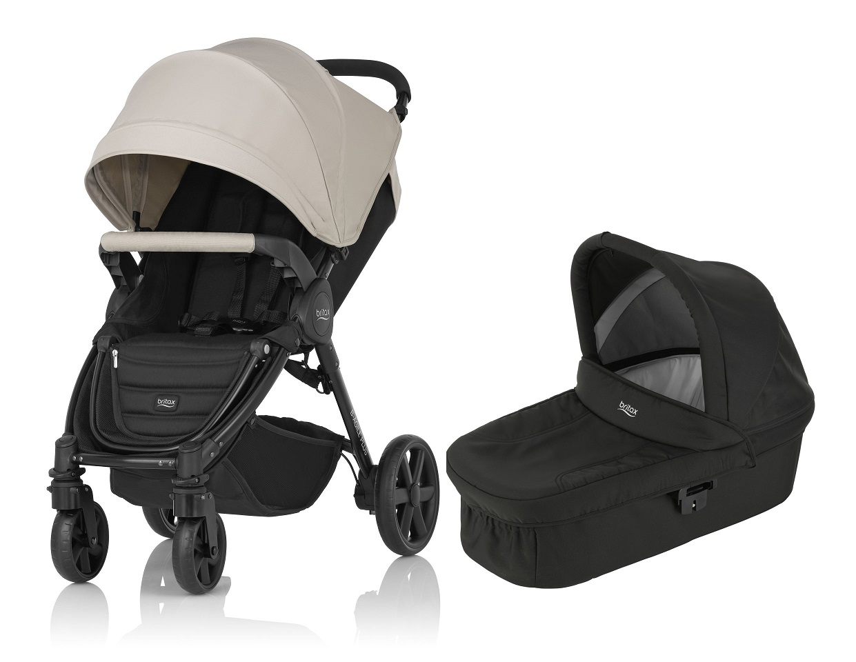 britax b-agile 4 plus incl. canopy pack + hard carrycot 2017 sand