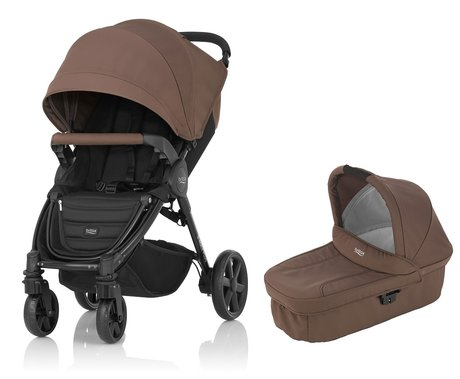 Britax B-Agile 4 Plus incl. Canopy Pack + Hard Carrycot Wood Brown 2016 - large image