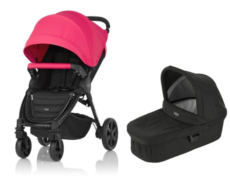 Britax B-Agile 4 Plus incl. Canopy Pack + Hard Carrycot Rose Pink 2016 - large image