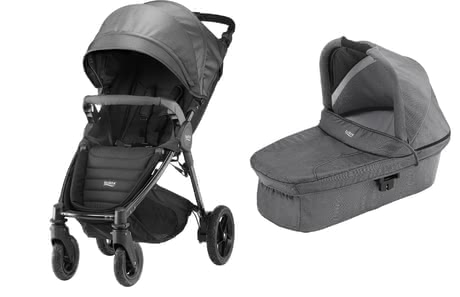 Britax B-Motion 4 Plus incl. Canopy Pack + Hard Carrycot attachment Black Denim 2019 - large image