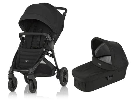 Britax B-Motion 4 Plus incl. Canopy Pack + Hard Carrycot attachment Cosmos Black 2019 - large image