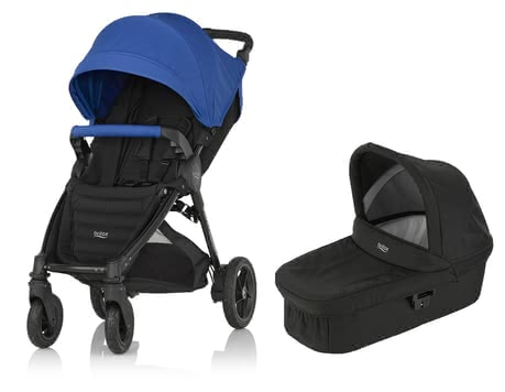 Britax B-Motion 4 Plus incl. Canopy Pack + Hard Carrycot attachment Ocean Blue 2019 - large image