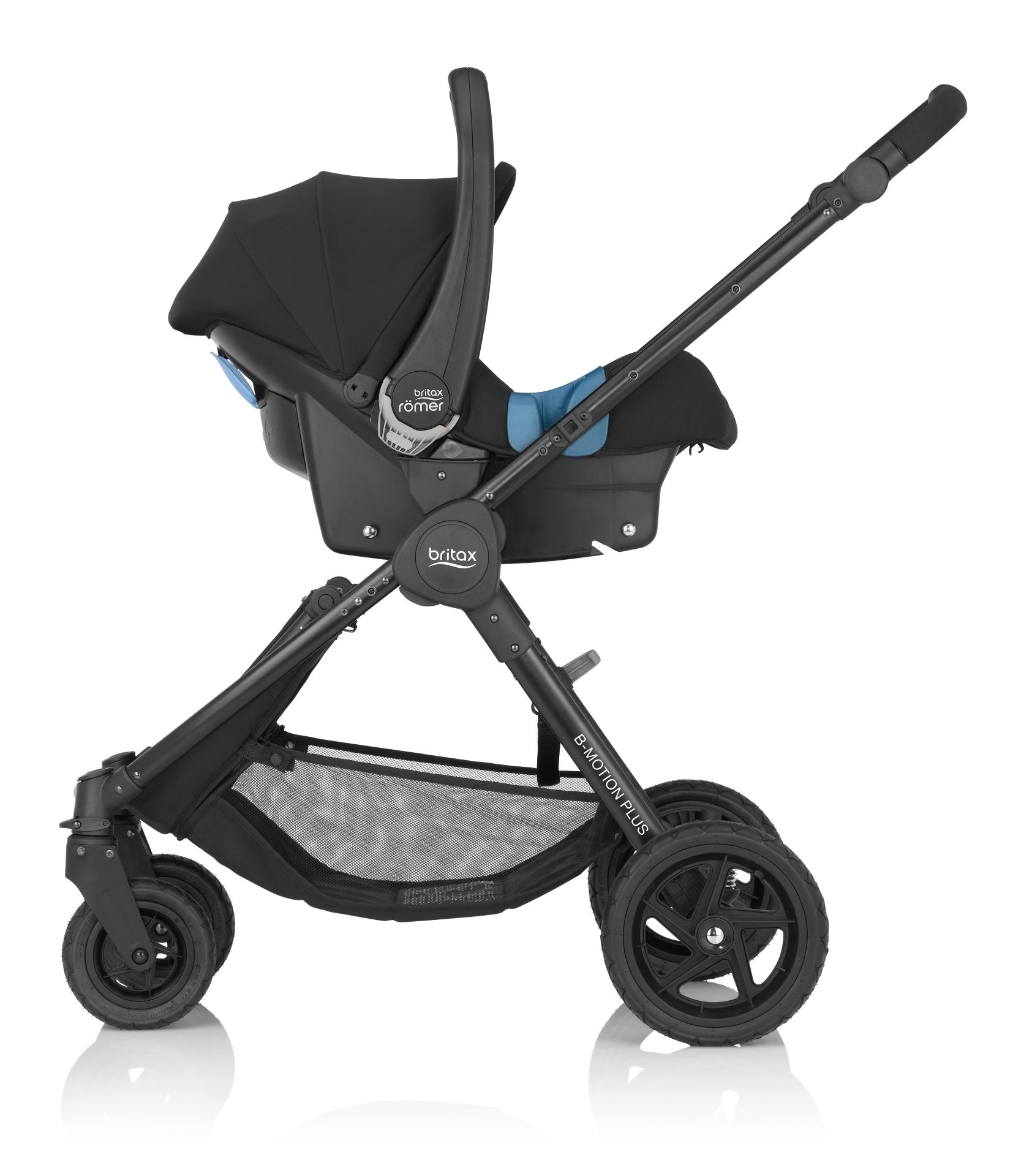 britax b-motion 4 plus incl. canopy pack + carrycot attachment +
