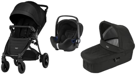 Britax B-Motion 4 Plus including Canopy Pack + Carrycot + Baby Safe 2 i-Size Cosmos Black 2019 - large image