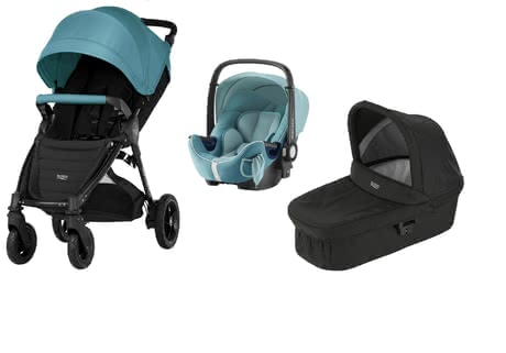 Britax B-Motion 4 Plus including Canopy Pack + Carrycot + Baby Safe 2 i-Size - * Being mobile even with your child? No problem with this comprehensive set that contains the Britax B-Motion 4 Plus incl. Canopy Pack + Carrycot + infant car seat Baby Safe 2 i-size.